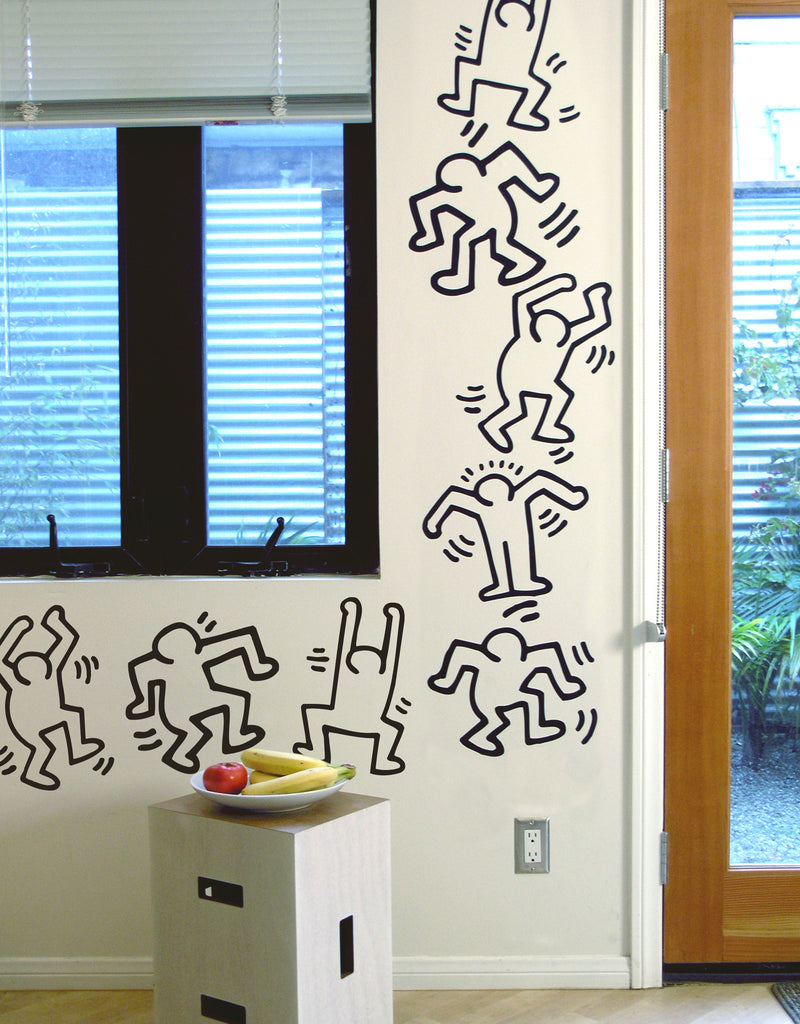 Keith haring dancers wall decals blik - Keith haring shower curtain ...