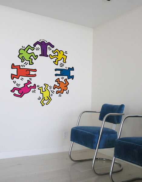 Keith Haring Dancer Wall Decal Keith Haring Wall Art For Sale Blik