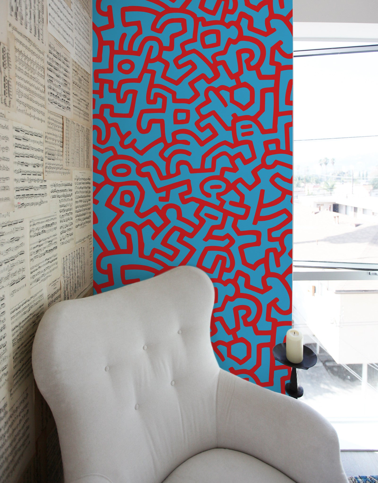 Keith Haring Adhesive Wall Tiles | Stick on Wall Tiles – Blik