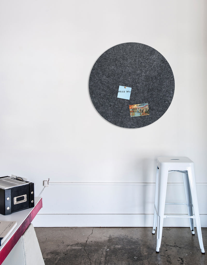 Circle Pinboard, Large in Charcoal