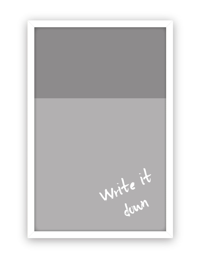 Color Block Dry Erase, White Frame