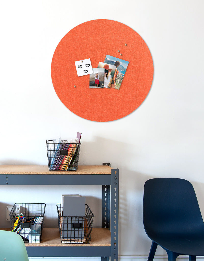 Circle Pinboard, Large in Tangerine