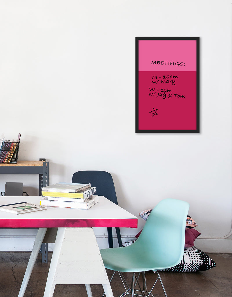 Color Block Dry Erase, Black Frame