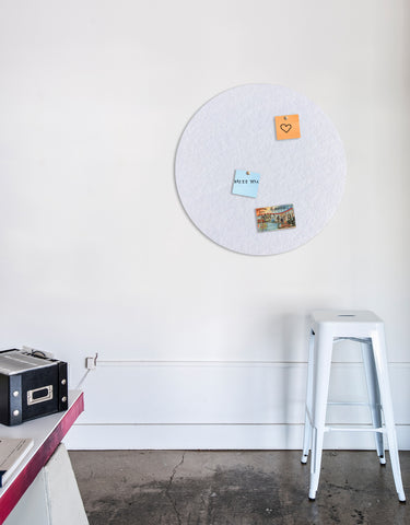 Circle Pinboard, Large in White