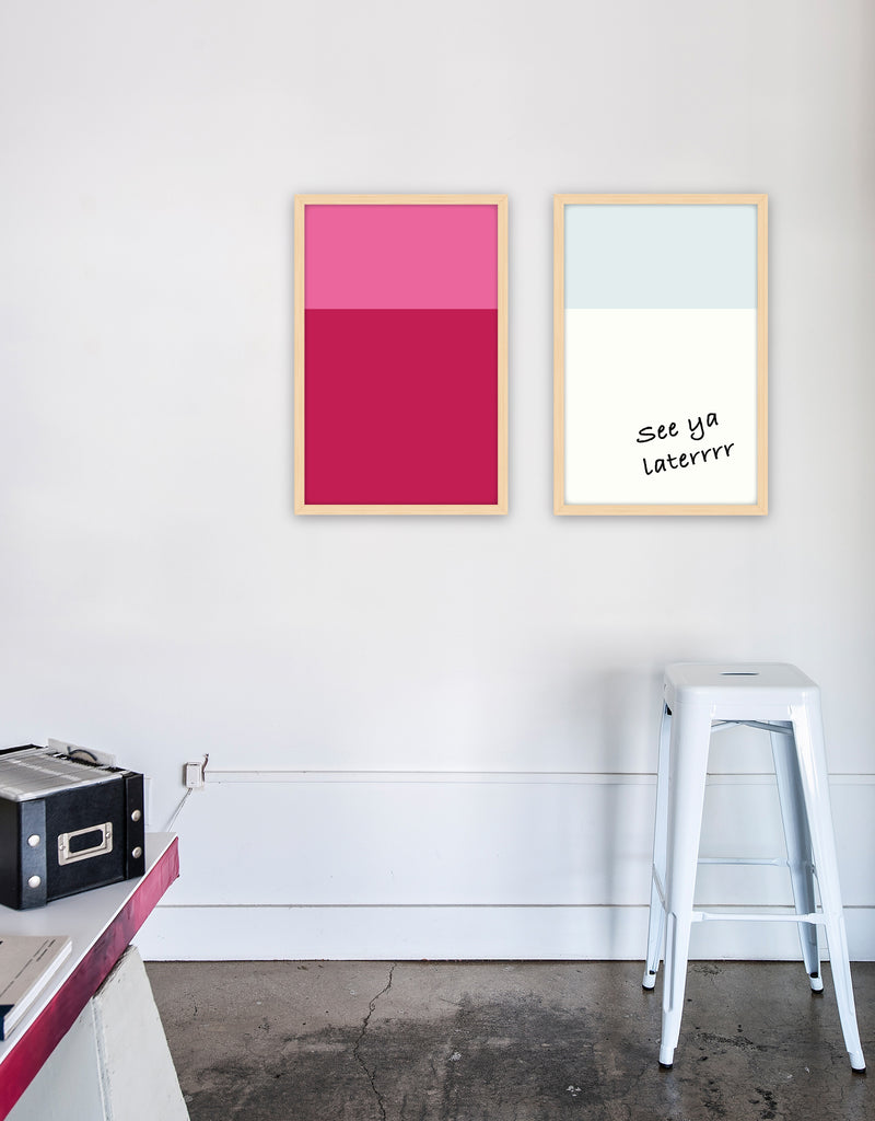 Color Block Dry Erase, Natural Frame