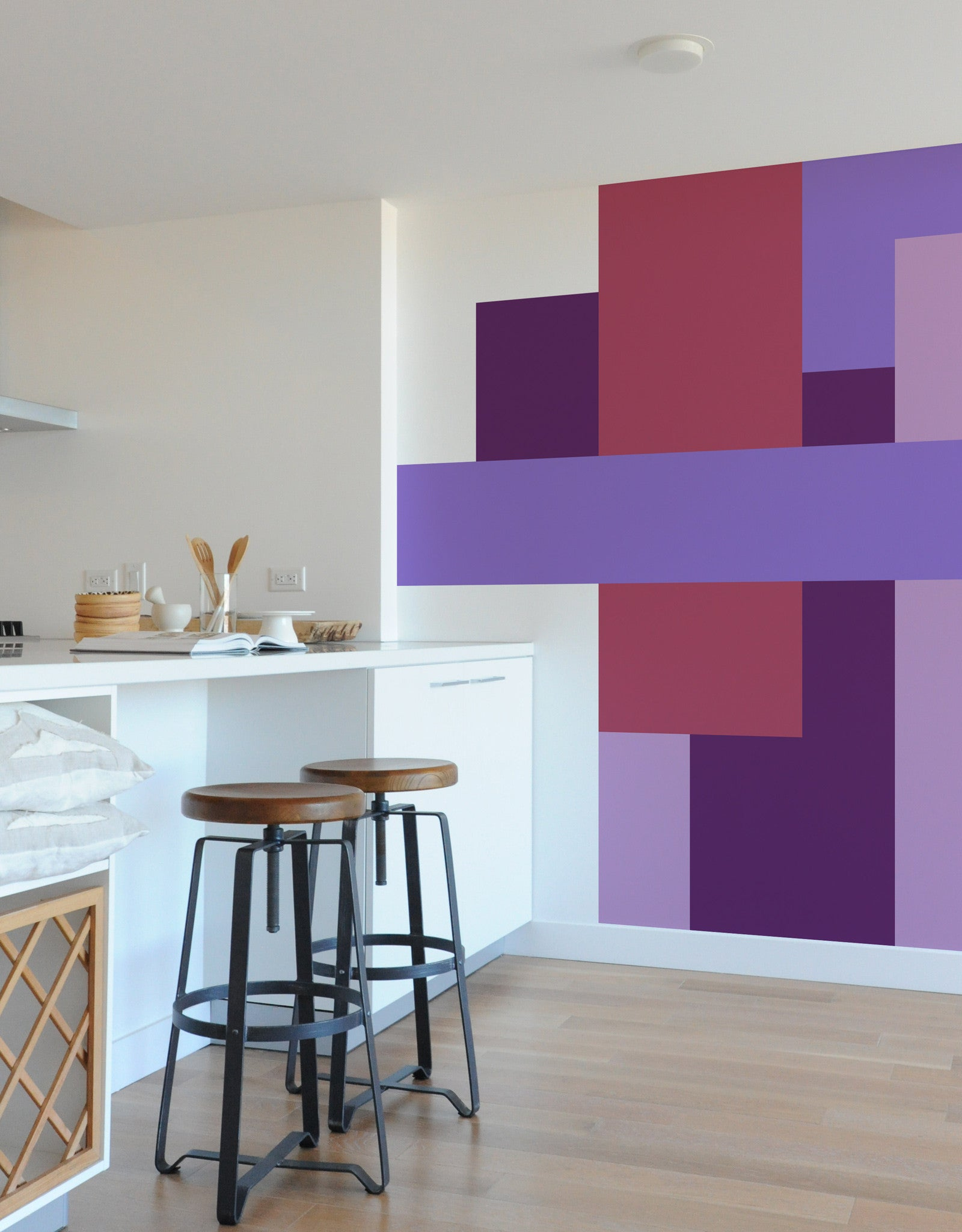 Color blocking art self adhesive wall decals blik parallel color block parallel amipublicfo Image collections