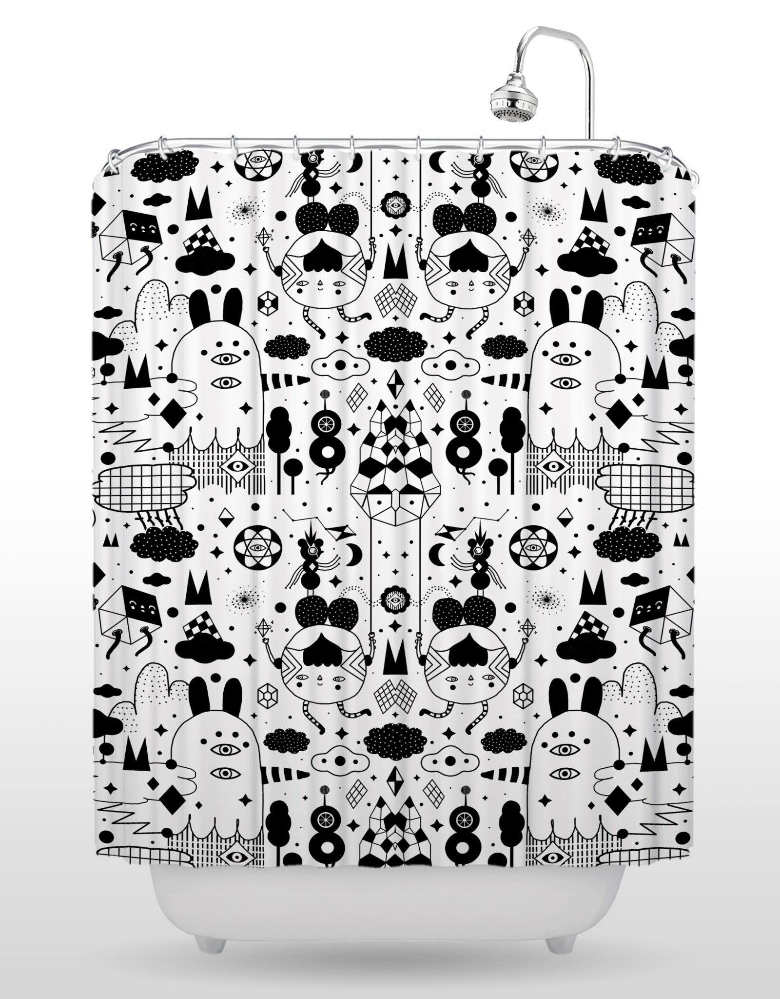 Beyond The Space Shower Curtain   White