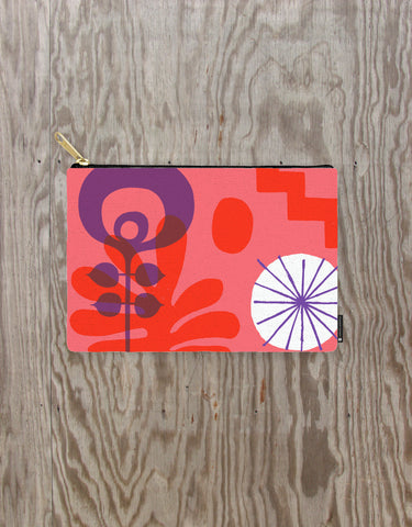 NCC Red Flower Pouch