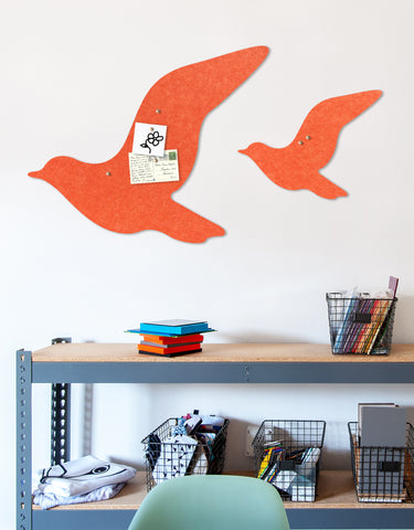 Fly Pinboard in Tangerine