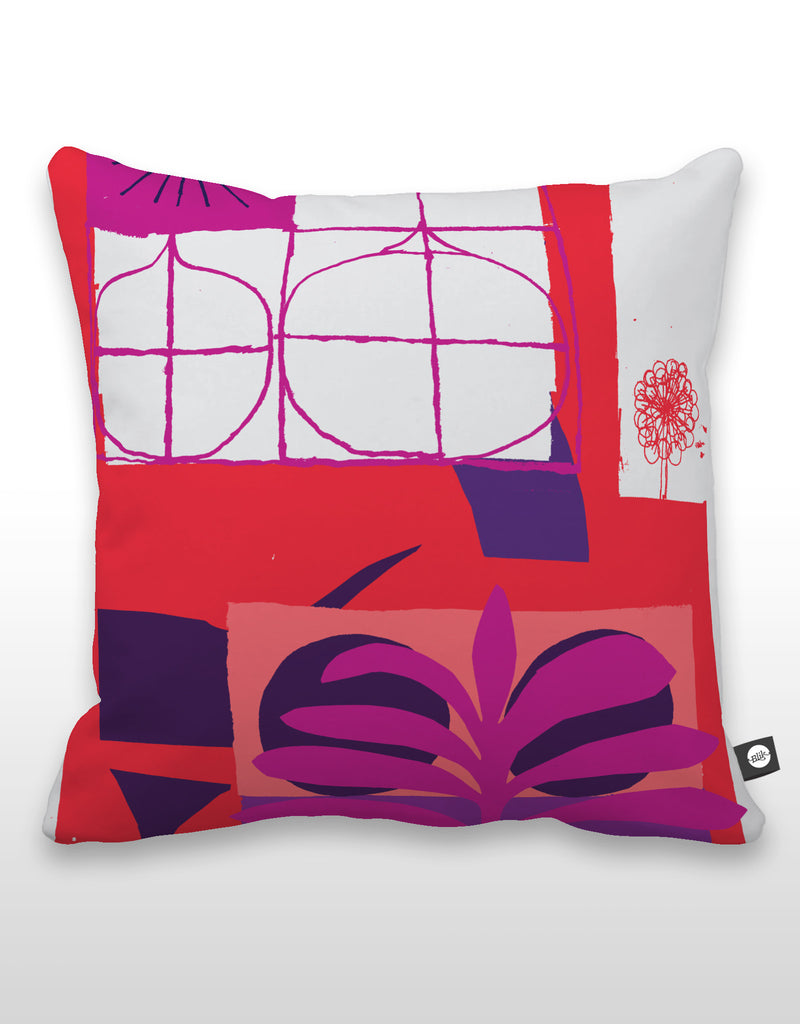 NCC Purple Leaf Pillow