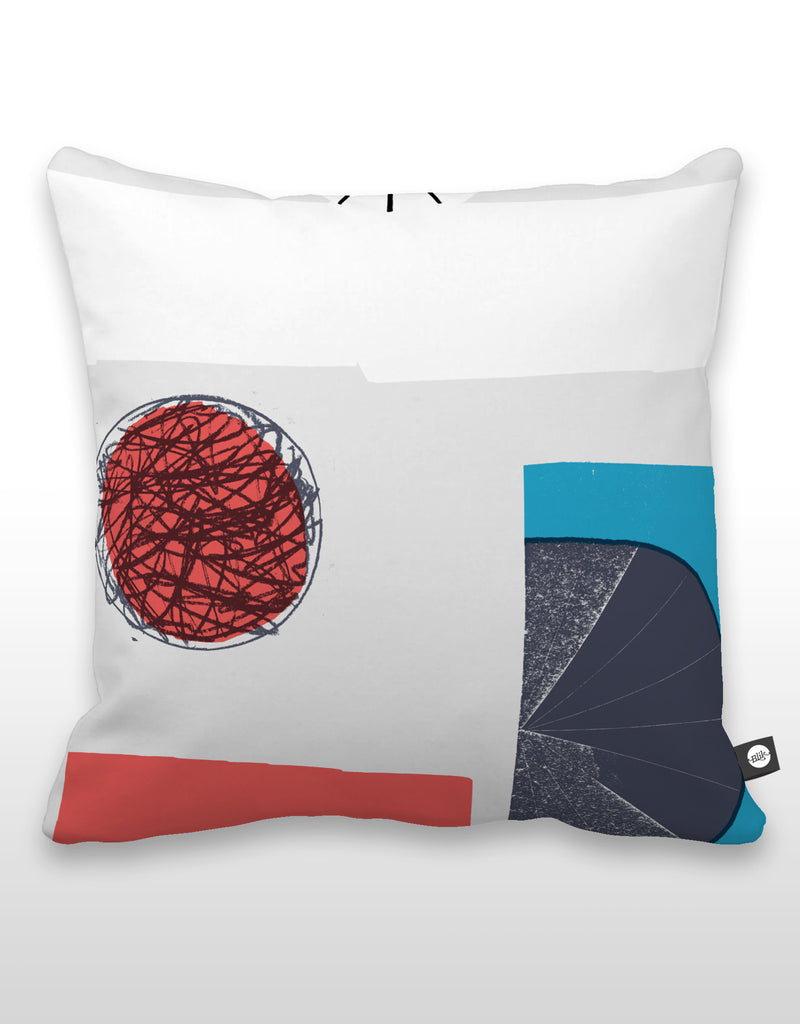 NCC Red Scribble Pillow