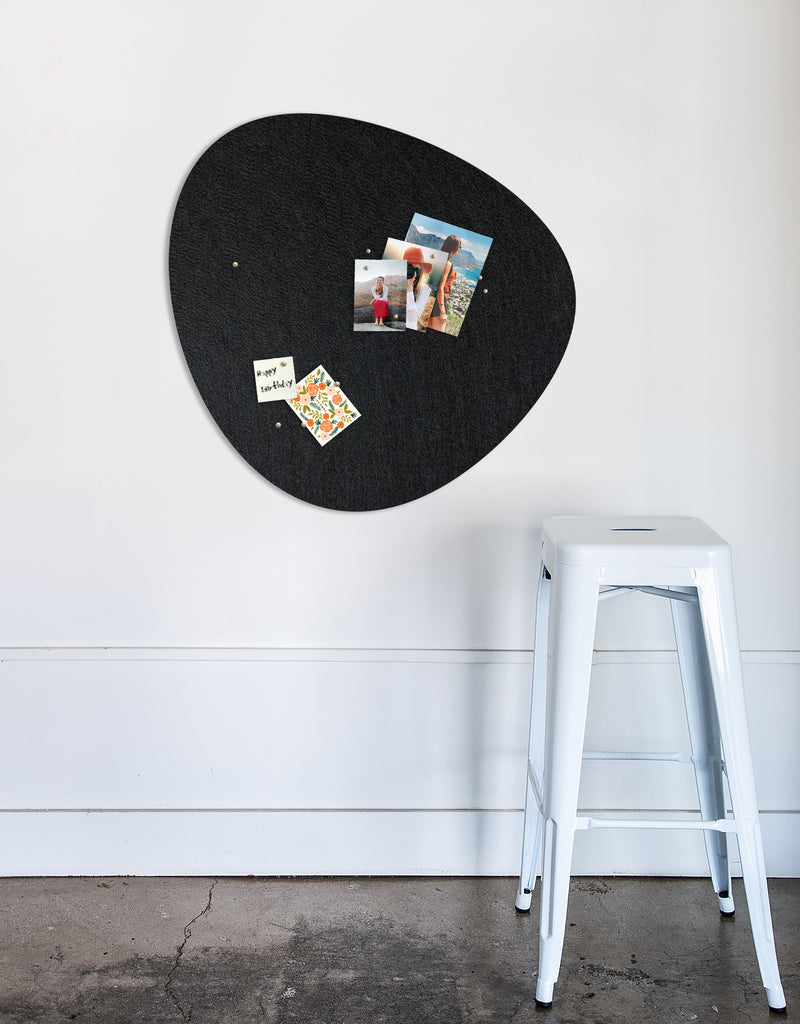 Pebble Pinboard, Large in Black