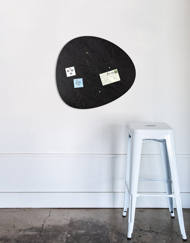 Pebble Pinboard, Small in Black