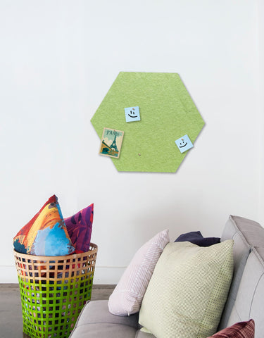 Hexagon Pinboard, Large in Pear