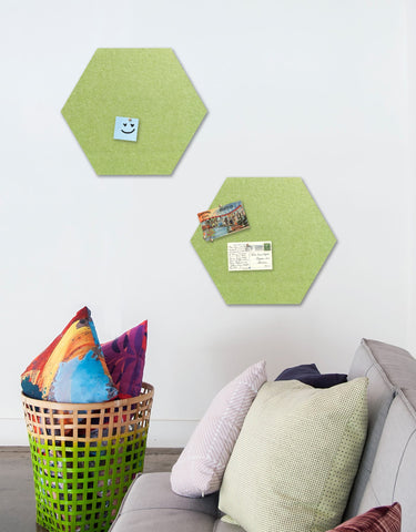 Hexagon Pinboard, Small in Pear