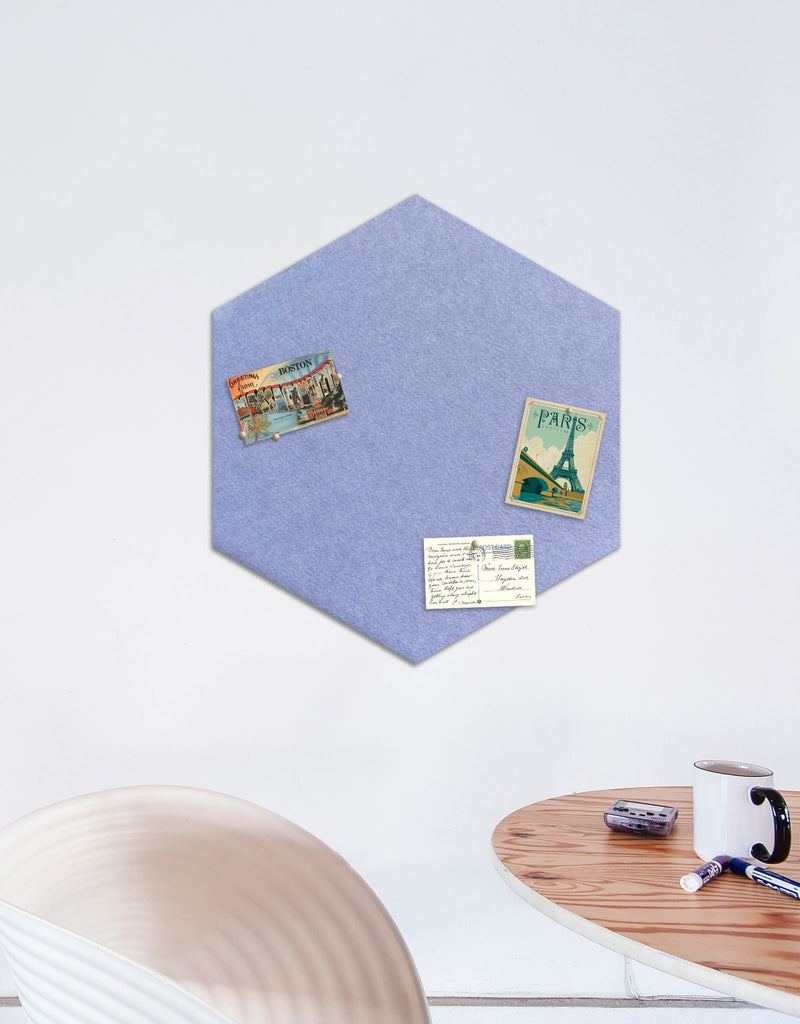 Hexagon Pinboard, Large in Peri