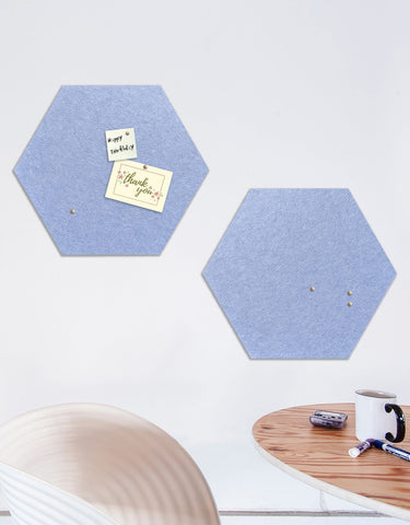 Hexagon Pinboard, Small in Peri