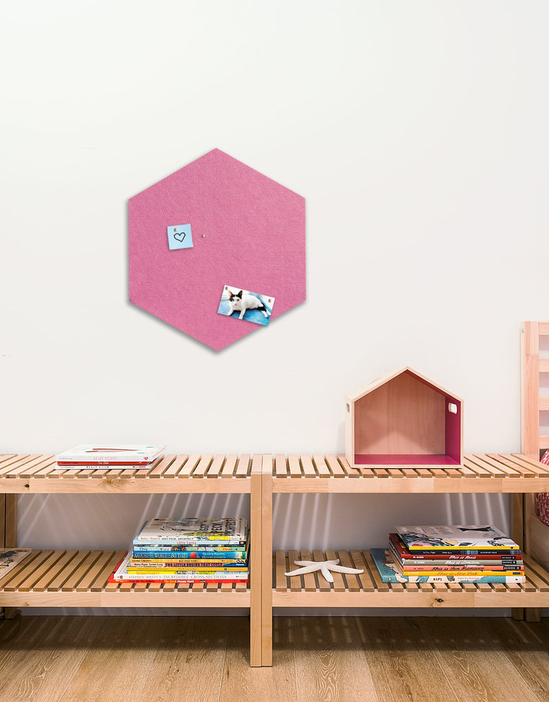 Hexagon Pinboard, Large in Pink