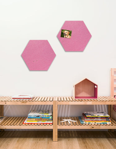 Hexagon Pinboard, Small in Pink