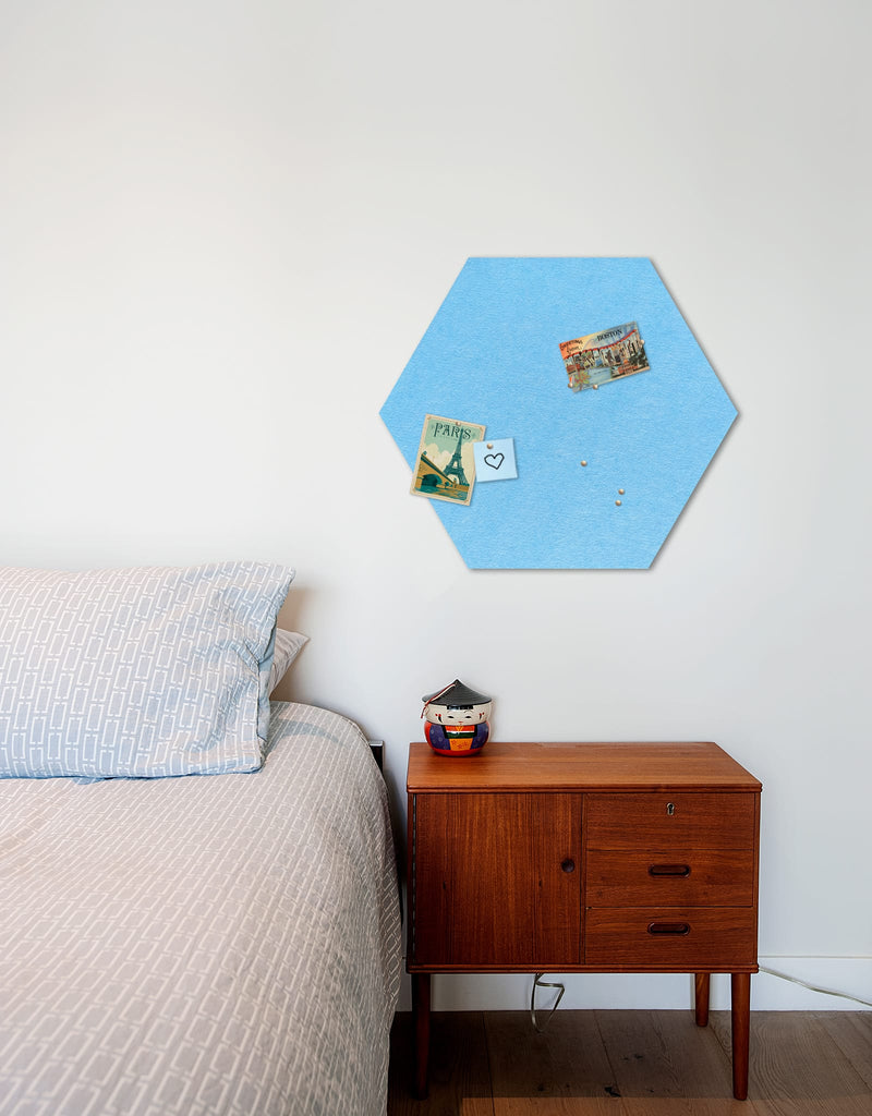 Hexagon Pinboard, Large in Sky