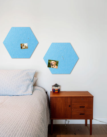 Hexagon Pinboard, Small in Sky