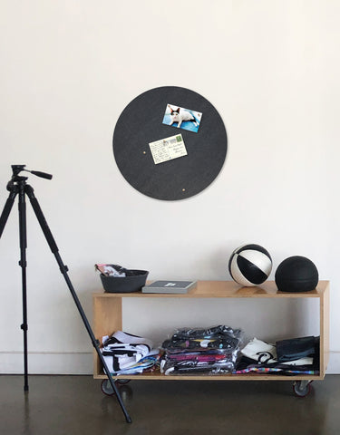 Circle Pinboard, Large in Smoke