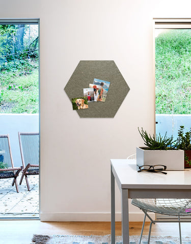 Hexagon Pinboard, Large in Stone
