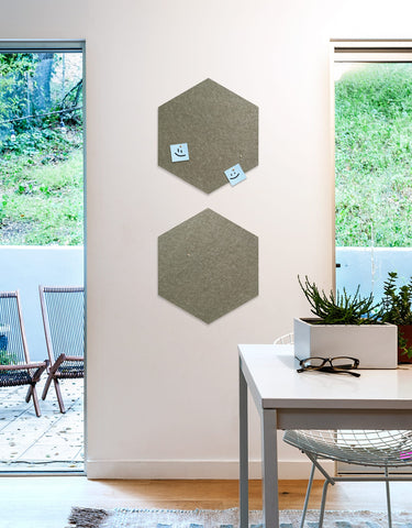 Hexagon Pinboard, Small in Stone