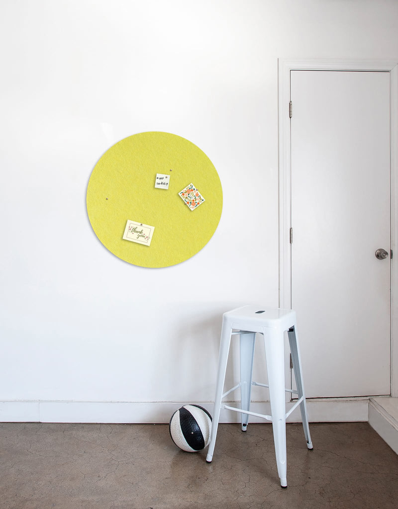 Circle Pinboard, Large in Yellow