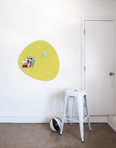 Pebble Pinboard, Large in Yellow