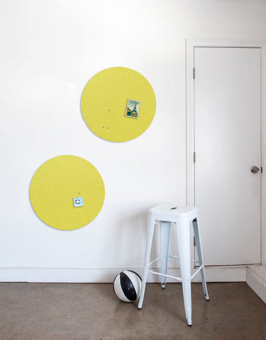 Circle Pinboard, Small in Yellow