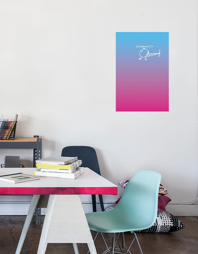Rectangle - Pink Gradient Dry Erase