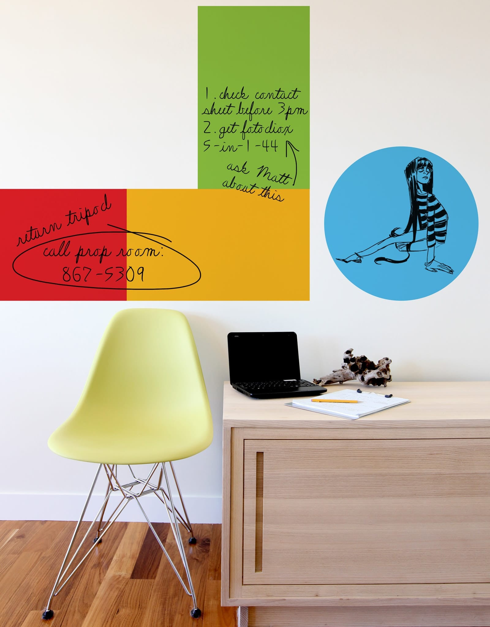 Dry Erase Board Sticker | Whiteboard Wall Decals – Blik