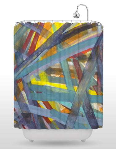Gouache Shower Curtain