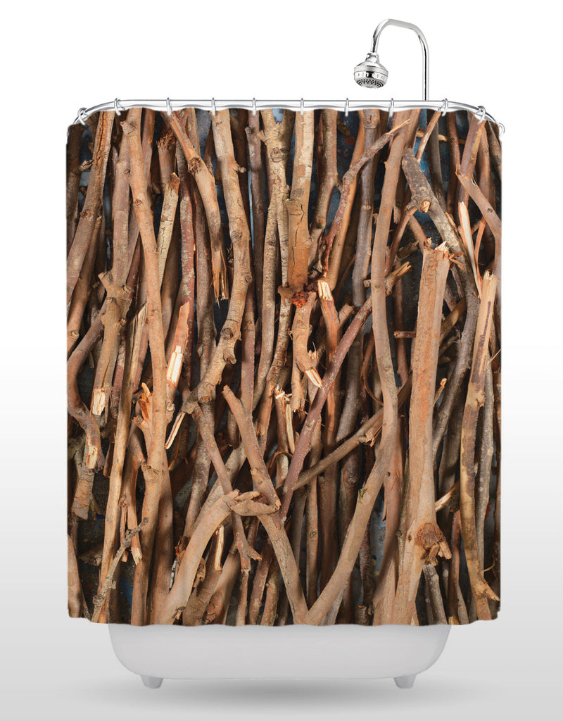 Sticks Shower Curtain