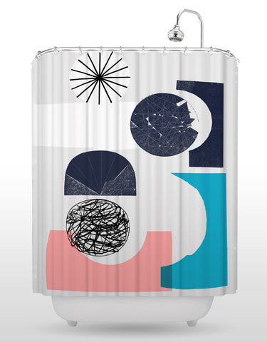 NCC Blues Shower Curtain