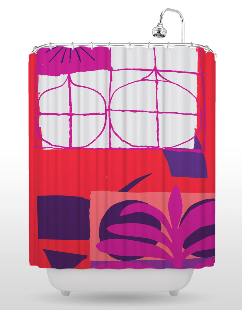 NCC Purple Leaf Shower Curtain
