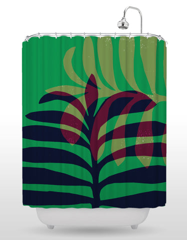 NCC Leaf Shower Curtain