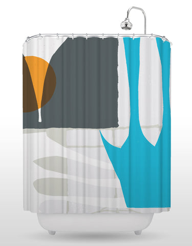 NCC Orange Dot Shower Curtain