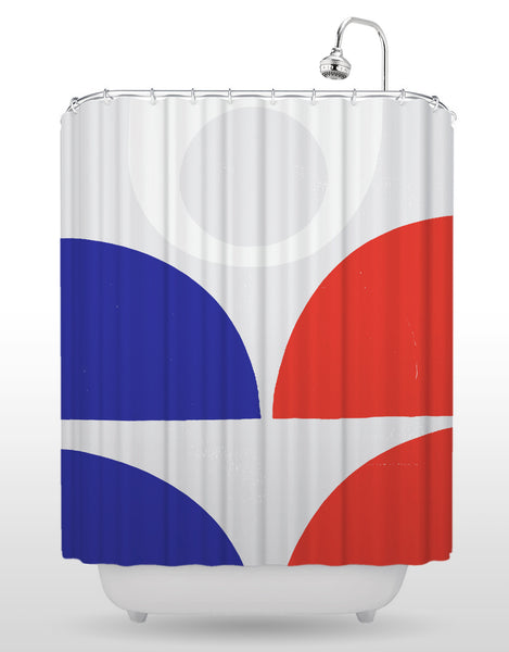 NCC Red White And Blue Shower Curtain Blik