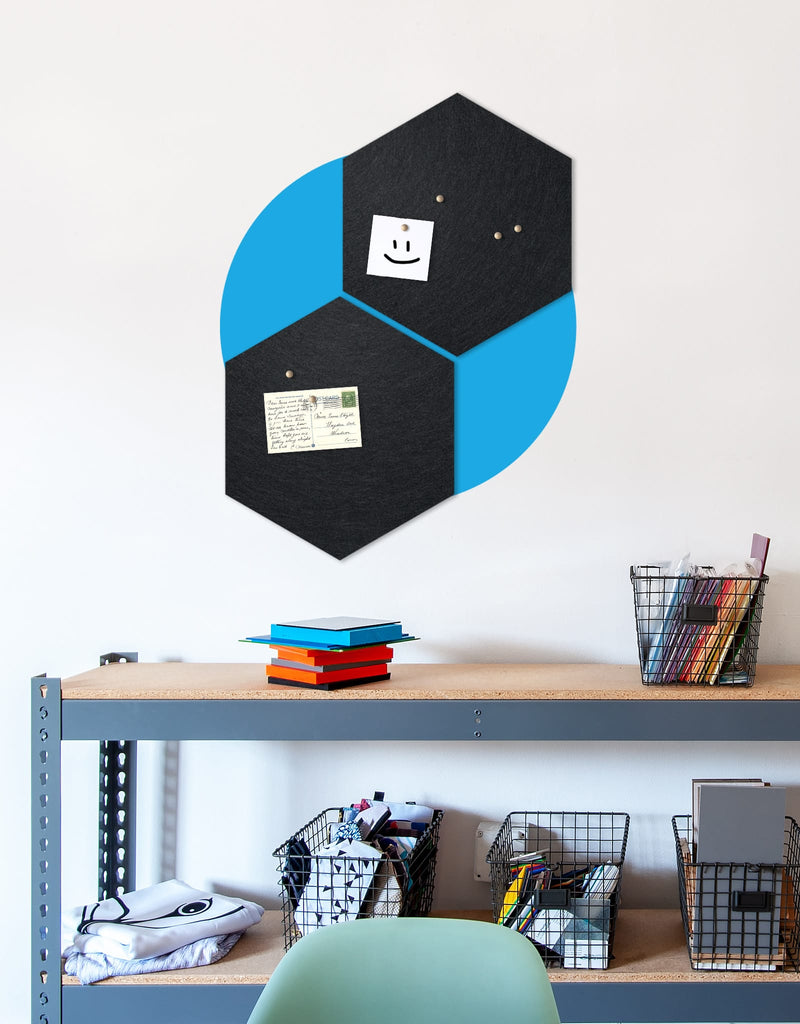 Hexagon Pinboard, Small in Black