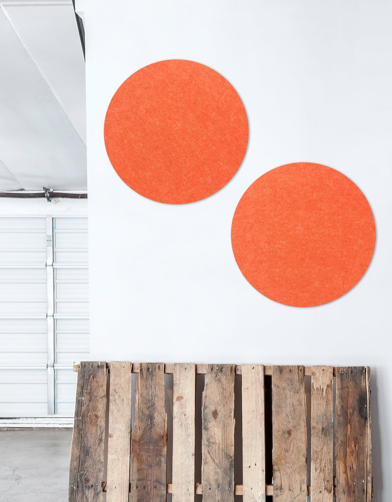 Circle Pinboard, Small in Tangerine