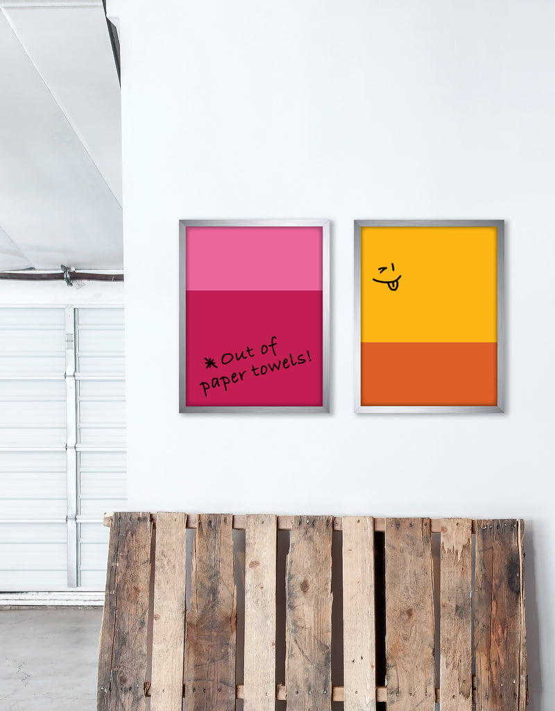 Color Block Dry Erase, Metal Frame