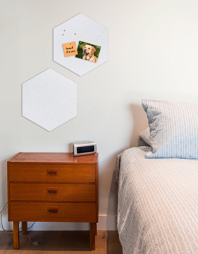 Hexagon Pinboard, Small in White