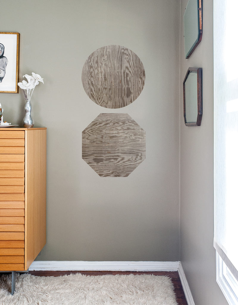 Dark Wood Dry Erase - Octagon