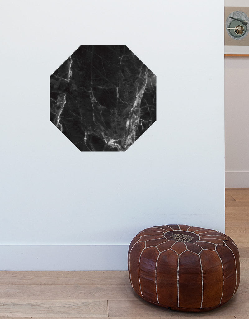 Black Marble Dry Erase - Octagon