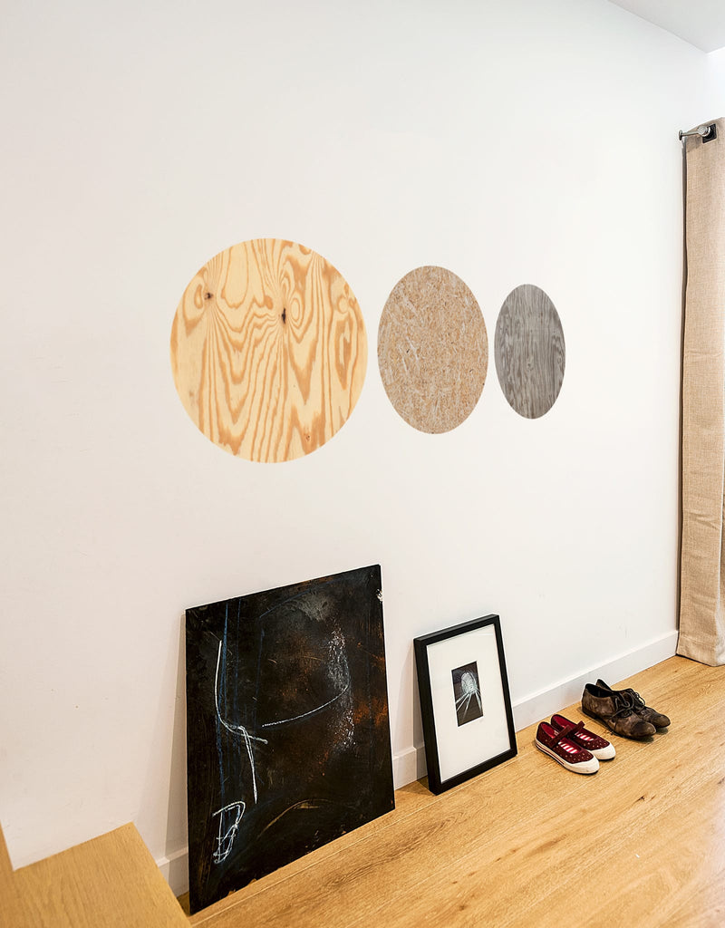 Dark Wood Dry Erase - Circle
