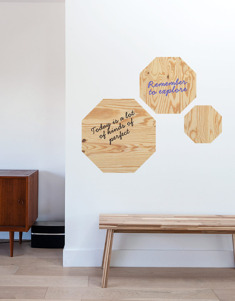 Light Wood Dry Erase - Octagon
