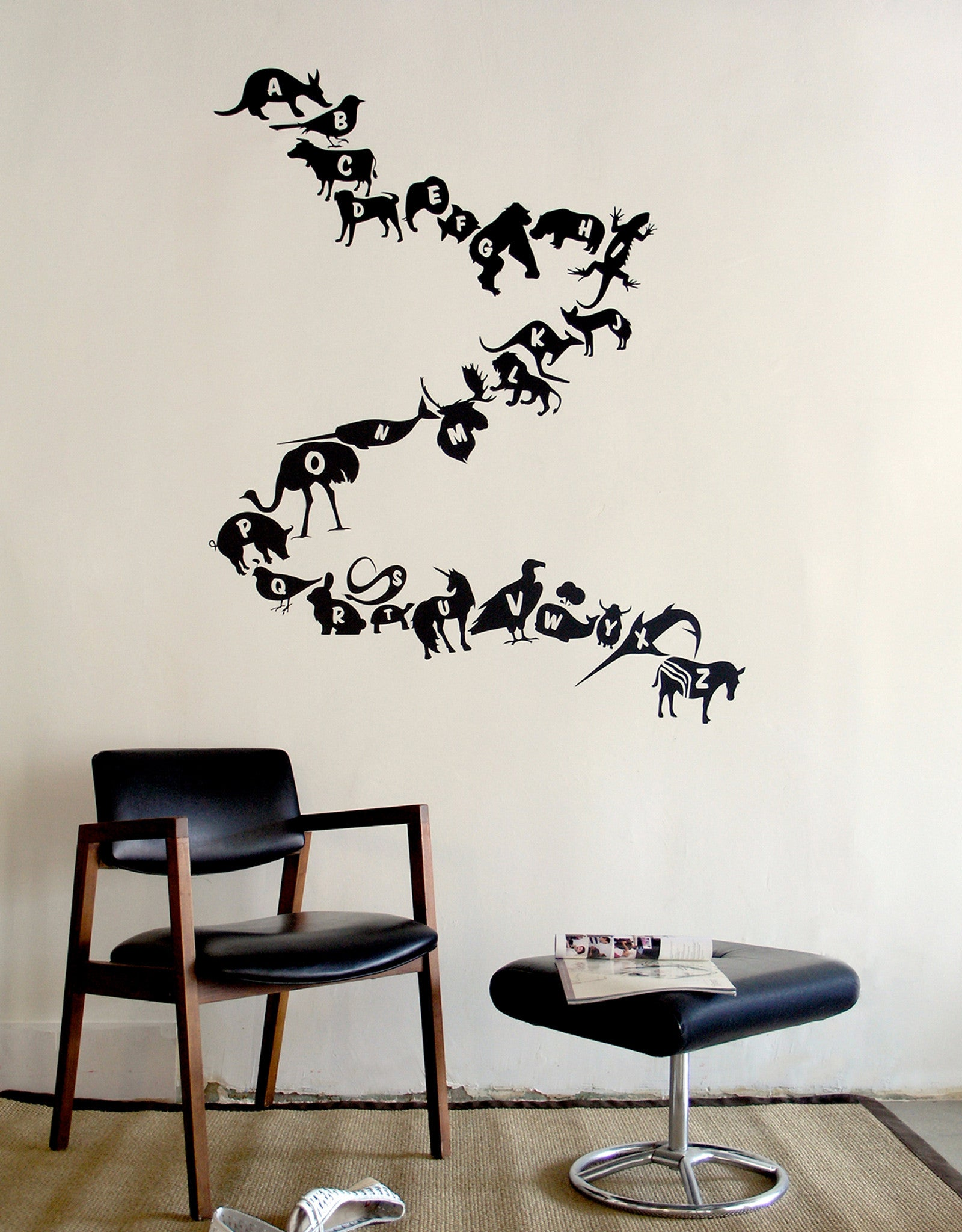 Alphabet Zoo ~ Re-Stik ...  sc 1 st  Blik Surface Graphics & Black Alphabet Wall Decals | Alphabet Animals A-Z u2013 Blik