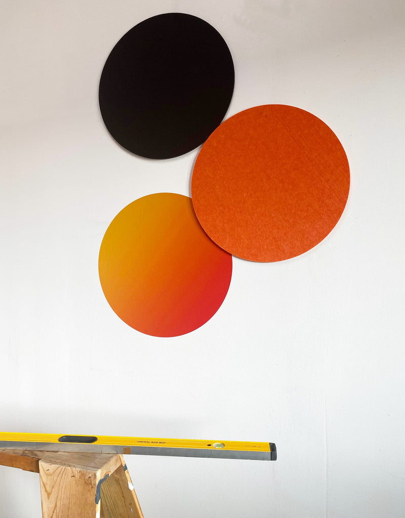 Circle - Orange Gradient Dry Erase
